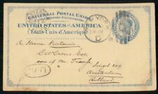 Mayfairstamps US 1881 US New York to Netherlands Amsterdam Stationery card wwh40