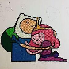 Princess bubble gum  and Jake Adventure Time perler kandi rave EDC PLUR bead art