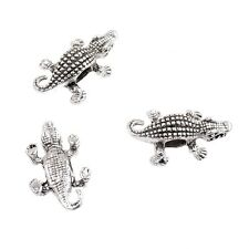 10 Pieces DIY Crocodile Head Beaded For Bracelets Connector Beads Charm Beads
