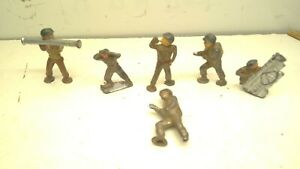 Vintage Lot of 6 Lead Toy Soldiers Lot