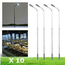 TRAINS JOUEF ROCO LIMA LOT 10 LAMPADAIRES de VILLE HO H85mm LED 12V avec R 510 Ω