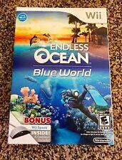 ENDLESS OCEAN: BLUE WORLD w/Wii Speak Bundle *NEW/SEALED IN BOX* Nintendo Wii