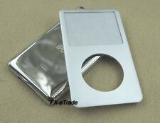 Silver Front Faceplate Cover Metal Back Case Housing for iPod 7th Classic 160GB