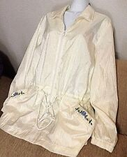 Blair Cream White Jacket Wind Breaker Size Large Coat Nice Women's