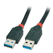 Lindy 2m USB 3.0 Cable - Type A Male to A Male, Black