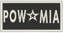 POW Mia Embroidered Patch With Velcro® BRAND Fastener Emblem White Border