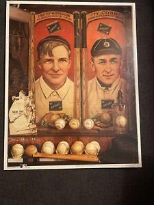"No 11 Christy And Ty 11"" X 14"" Print 1909 Baseball Cards Memorabila NIP MLB 1993"
