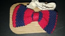 Mud Pie Baby Boy Bow Tie Red and Blue Knit One Size