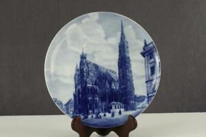 Vintage China Porcelain St Stephansdom Cathedral WIEN Decor Plate Forstenberg