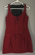 Retro RTS Black & Red Check Sleeveless Mini Dress Size S/8
