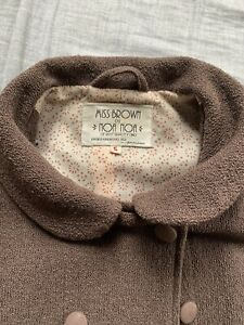 """noa noa jacket """" Miss Brown"""" Tailored Vintage Style Brown. Short Sleeved."""