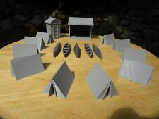 """"""" S  SCALE   CAMPING SET """"   TENTS, CANOES, more   L@@K  1:64  1/64  3D PRINTED"""