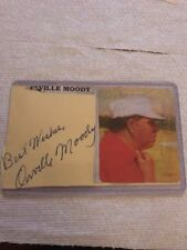 Orville Moody PGA Signed 3x5 Index Card WITH photo.