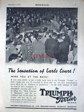 1952 TRIUMPH 'Terrier' 150cc OHV Motor Cycle AD - Original Print ADVERT
