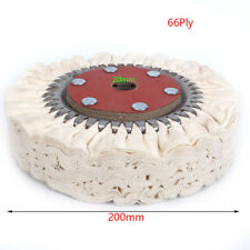 200mm 8inch Cotton Airway Buffing Wheel Cloth Wheel Hole Diameter 20mm Ply66