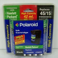 Polaroid Cartucho de tinta 45/15 tinta negra alta capacidad negro HP 51645A C6615 Nuevo