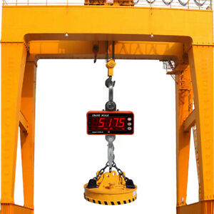1000KG Electronic Crane Scale Balance LCD Industrial Hanging Hook Hanging Scale
