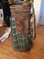 RARE VINTAGE WILSON COUNTRY CLUB PLAID  GOLF BAG Part Leather
