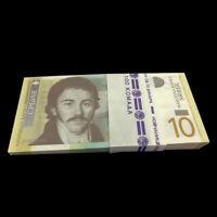 Full bundle Lot 100 PCS, Serbia 10 Dinara Banknote, 2011-2014, P-54, UNC