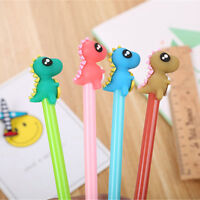 6pcs Cute Kawaii Dinosaur Black Gel Ink Roller Ball Point Pen School Kids Pens
