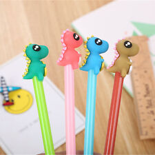 6pcs Cute Kawaii Dinosaur Black Gel Ink Roller Ball Point Pen School Kids Pens