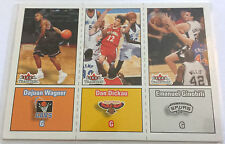 Manu Ginobili / Wagner / Dickau- 02/03 Fleer Tradition Tri-Rookie Card