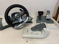 Microsoft Xbox 360 Wireless Racing Force Feedback Steering Wheel & Pedals WRW02