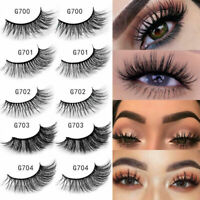 5Pairs Multipack 6D Mink Hair False Eyelashes Wispy Fluffy Long Faux Eye Lashes