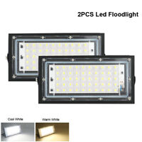 2PCS 50W Led Flood Light Outdoor Security Garden Yard Spotlight Lamp Cool White