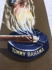 TOMMY BAHAMA MENS TIE HULA GIRL WITH CIGARETTE 4.25 X 58 NWT