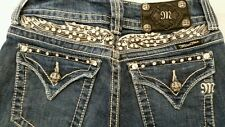 Miss Me Wing Bling Back Flap Button Pockets Jeans Size 25