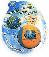 Wave Runner Soft Foam Water Skipping Ball | 2-Pack Bundle Water Bouncing Balls