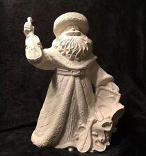 Ceramic Bisque Renaissance Santa VIII -14 inch Musical . Ready To Paint