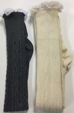 Ladies Wholesale boot socks with lace trim, 3 pc lot
