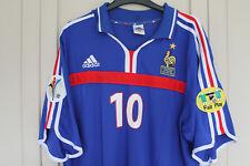 "ZIDANE 10 France EURO 2000 Home Football Shirt Jersey  LARGE 40/42"" madrid juve"