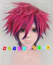 No Game No Life Sora Short Anime Cosplay Costume Full Wig + Free wig cap
