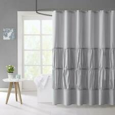Mi Zone Mirimar Microfiber Shower Curtain 72x72 Grey