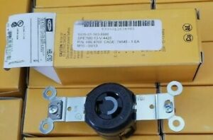 Hubbell HBL4760 Black Locking Receptacle 15 Amps 277 VAC Voltage 2 poles 3 wire