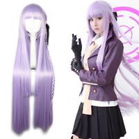 Danganronpa Kyoko Kirigiri Cosplay Wig Women Long Purple Straight Hair Wigs