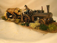 Beautiful Handcrafted Steam Tractor Logging Diorama - custom weathered -G- lot 4