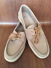 NWOB Massimo Dutti Grey Leather Men's Boat Shoes Loafers  Sz 43 Made In Portugal