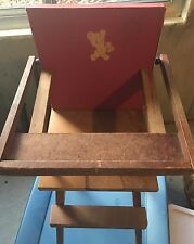 Vintage ~ Pla-Doll ~ Wooden ~ Toy ~ Doll Highchair