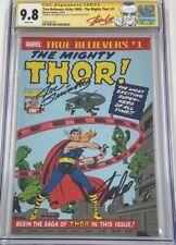 True Believers Mighty Thor #1 Signed Stan Lee & Joe Sinnott CGC 9.8 SS Avengers