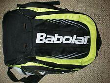 Babolat Tennis Racket Bag Backpack Black White Neon w/ Double Straps