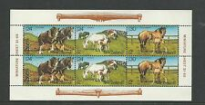 1984 Health Horses Mini Sheet  Complete MUH/MNH as Purchased from NZ  Post
