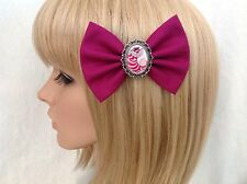 Alice in wonderland Cheshire cat hair bow clip rockabilly pin up disney girls