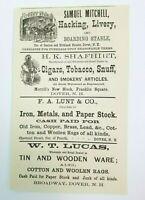 1880 Dover New Hampshire Print Advertisement Shafhirt Tobacco Lunt Lucas Libbey