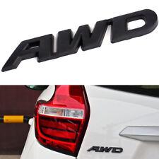Black Car SUV AWD Metal Emblem Sticker Badge Decal for 4 Wheel Drive Tailgate