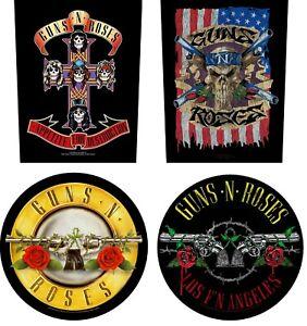 OFFICIAL GUNS N ROSES BACKPATCH / PATCH - appetite for destruction logo flag LA