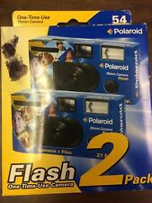 Polaroid Flash Disposable Film Cameras 2 Pack 400 Asa 35mm 57 Exp.